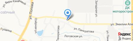 СТО на карте Барнаула