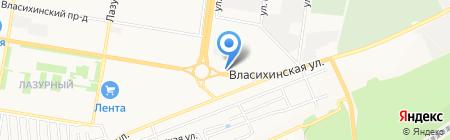 Магазин автозапчастей для Hundai Coynty на карте Барнаула