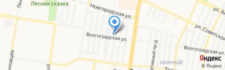 База на Омской на карте Барнаула