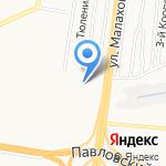 Киоск по продаже молочных продуктов на карте Барнаула
