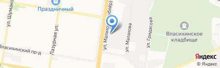 Маслосырбаза на карте Барнаула