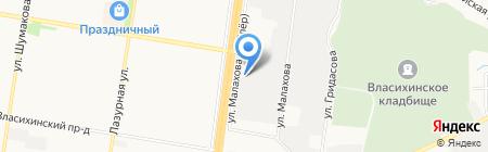 Касмалинский на карте Барнаула