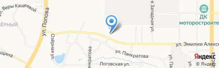 Сталь-Строй на карте Барнаула