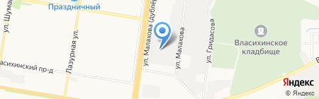 ПС на карте Барнаула