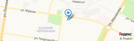 Магазин одежды на карте Барнаула