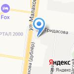 Силовые машины на карте Барнаула