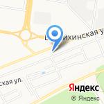 Купель на карте Барнаула