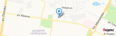 Аверс на карте Барнаула