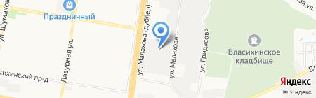 МЕРСЕДЕС на карте Барнаула