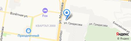 Автоаист на карте Барнаула
