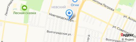 Шиномонтажная мастерская на Уральской на карте Барнаула