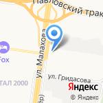 Автомагистраль на карте Барнаула