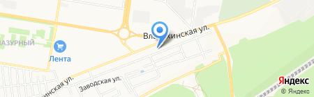 Горный источник на карте Барнаула
