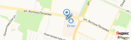 Аспект-Т на карте Барнаула