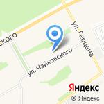 Волшебная ленточка на карте Барнаула