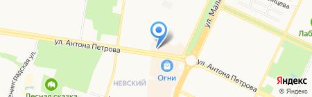 Монолит на карте Барнаула