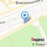 Банный двор на карте Барнаула