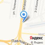 Монерон на карте Барнаула