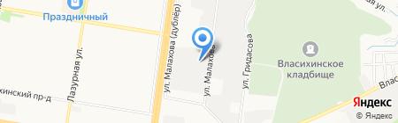Служба заказа автовышки на карте Барнаула