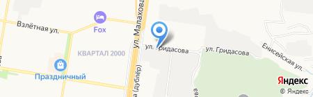 АВТООПТ на карте Барнаула