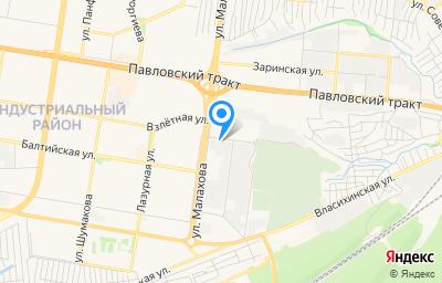 Местоположение на карте пункта техосмотра по адресу г Барнаул, ул Малахова, д 157