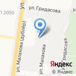 Клуб Саун Кристальный на карте Барнаула