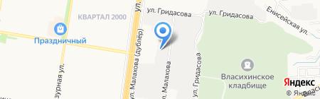 Кристальный на карте Барнаула