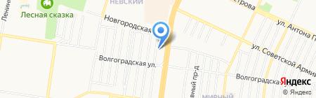 Корпорация Центр на карте Барнаула