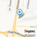 Авто Джин на карте Барнаула