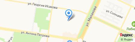 Средняя общеобразовательная школа №75 на карте Барнаула