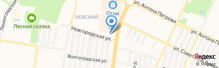 Банкомат Всероссийский Банк Развития Регионов на карте Барнаула