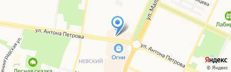 Гравитон на карте Барнаула