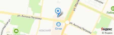 Евро-окна на карте Барнаула