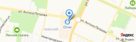 Буква Ю на карте Барнаула