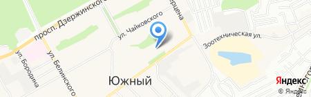 Детский сад №257 на карте Барнаула