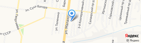 Мальта на карте Барнаула