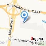 Аргон на карте Барнаула