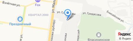 Дорожник на карте Барнаула