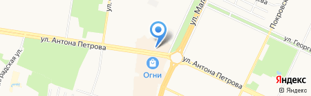 Улитка на карте Барнаула