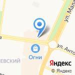 Магазин мужской одежды и аксессуаров на карте Барнаула