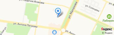 Фирменный стиль на карте Барнаула