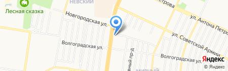 Квартал на карте Барнаула
