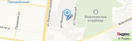 Аквилон на карте Барнаула