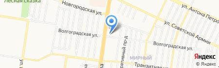 Смурфики на карте Барнаула