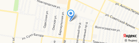 Касс-Вес-АЗС на карте Барнаула