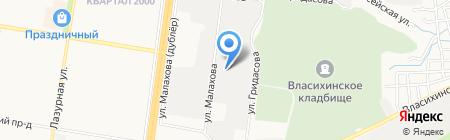 Сечь на карте Барнаула