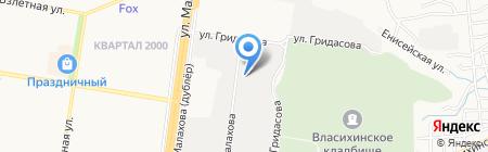 Крона-плюс на карте Барнаула