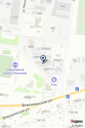Юго-Западный на карте Барнаула
