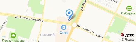 Мир корпусной мебели на карте Барнаула