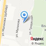 Разноцвет на карте Барнаула